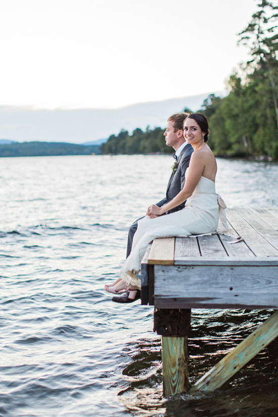 wedding photography on the dock