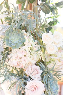 Navy and Pink Chic Desert Wedding