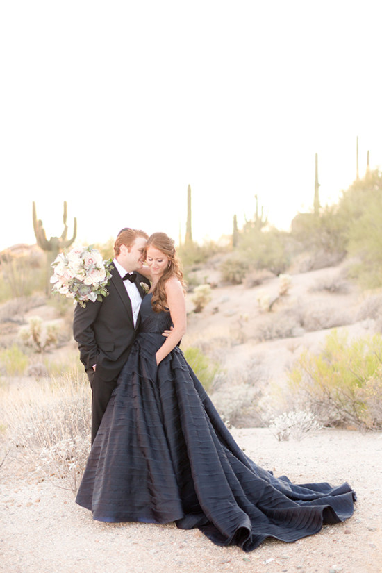 navy and pink desert wedding