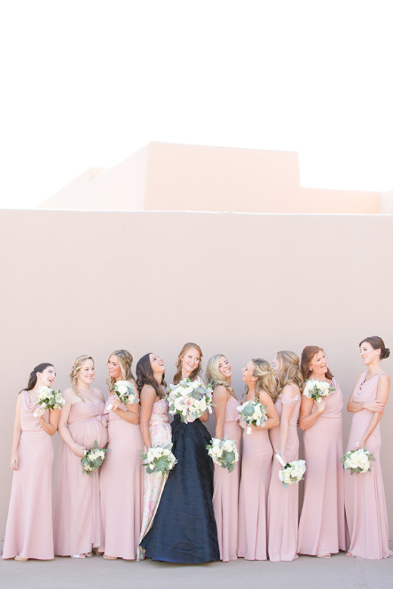 soft pink bridesmaid dresses
