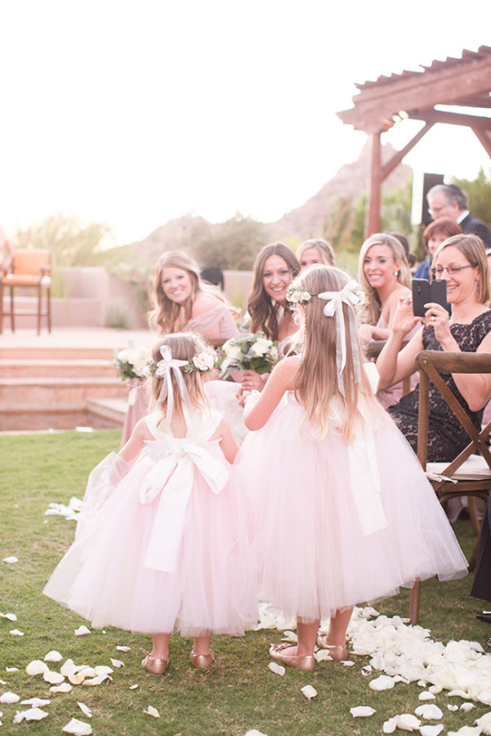 soft pink tutu flower girls