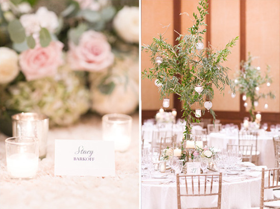 glamorous pink and gold table decor