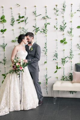 Pink and Grey Organic Modern Wedding