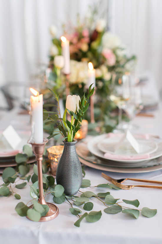 Organic modern table decor and details