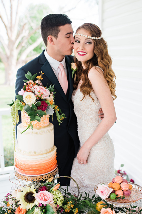 Glam citrus farm wedding