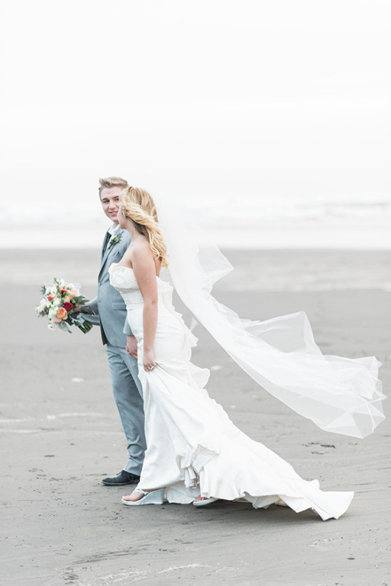 west coast wedding on the beach