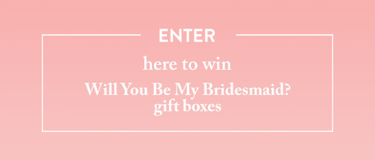 Will You Be My Bridesmaid Giveaway From Bijou candles