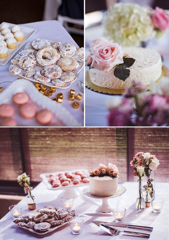 assorted wedding desserts