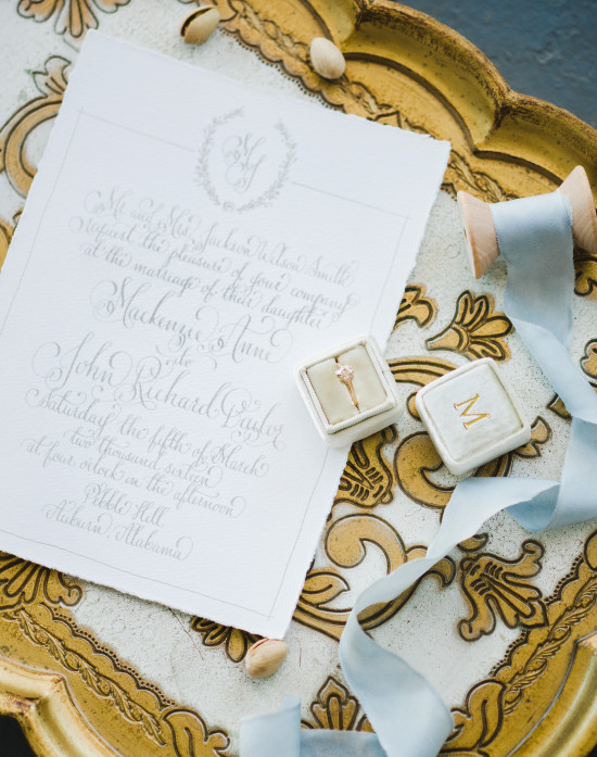 Invitation and ring box