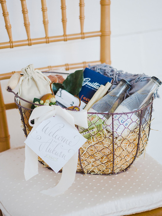 Welcome wedding basket