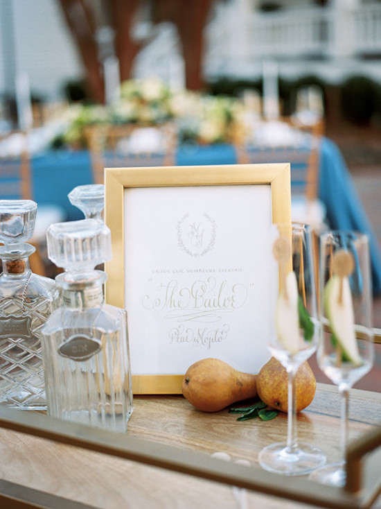 Signature wedding cocktail sign