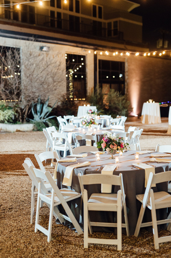 outdoor night time reception