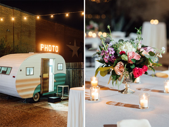 photo bus and centerpiece