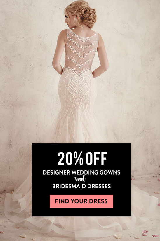 20% Off Designer Wedding Gowns