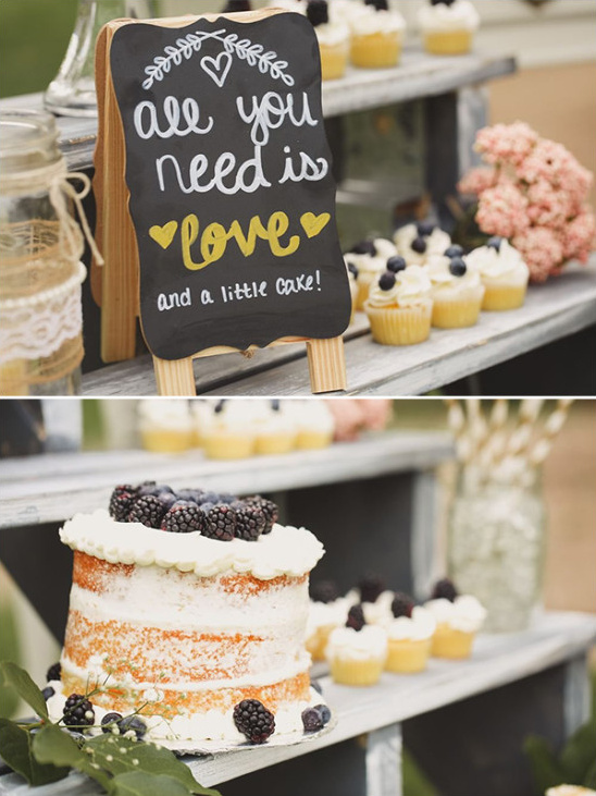 all you need is love and a little cake sign