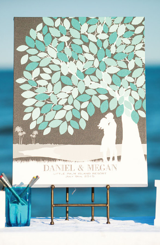 Custom wedding guest book from paperramma