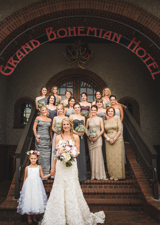 Mismatched bridesmaid style