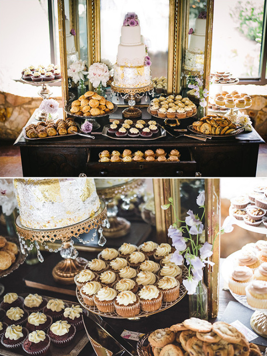 His and her favorite dessert table idea
