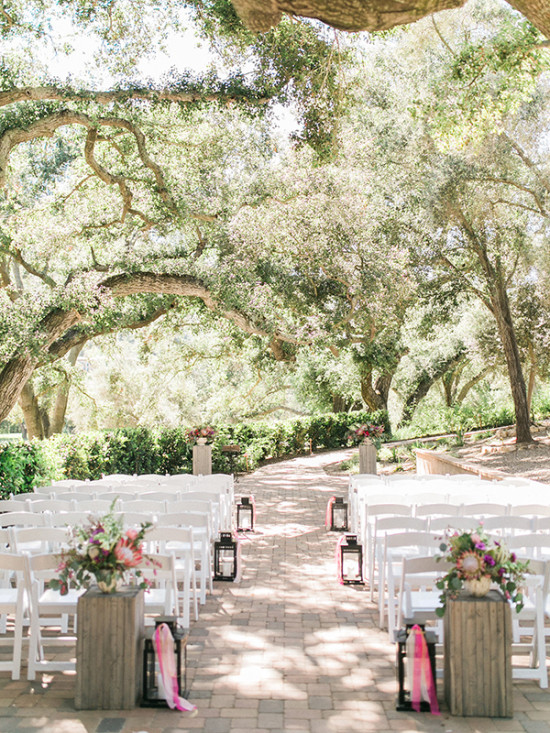 Romantic outdoor wedding ceremony