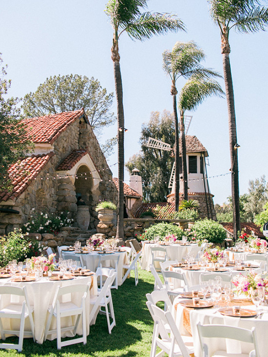 California outdoor wedding reception