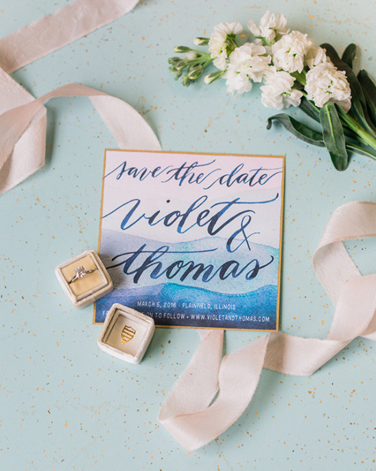 watercolor calligraphy save the date
