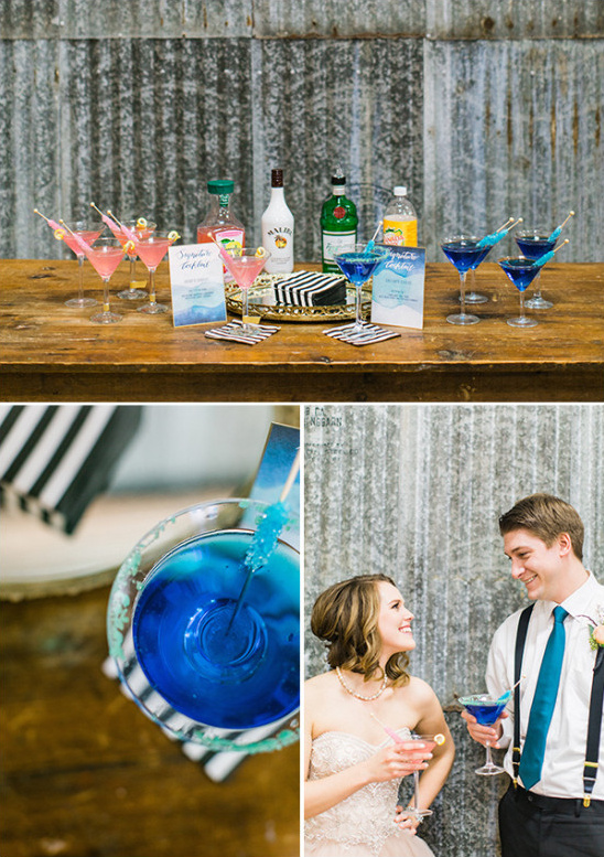 signature cocktails for the bride and groom