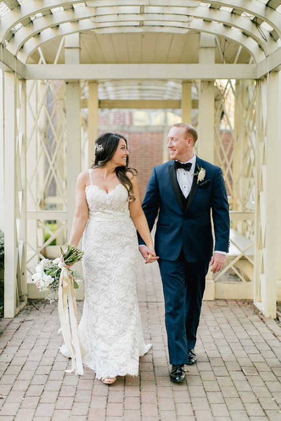 Gold White and Navy Glam Wedding