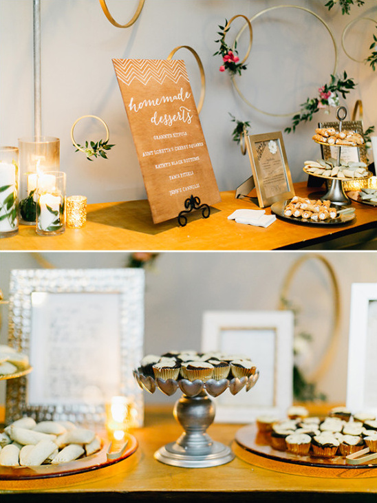homemade wedding dessert table