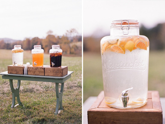Ceremony drink station idea