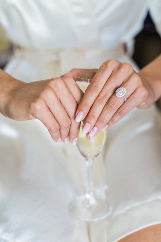 Wedding ring and nails