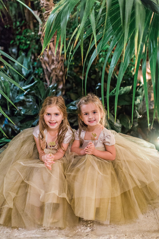 Flower girls in gold