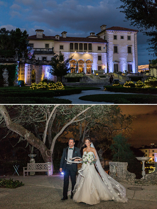 Night wedding in Florida