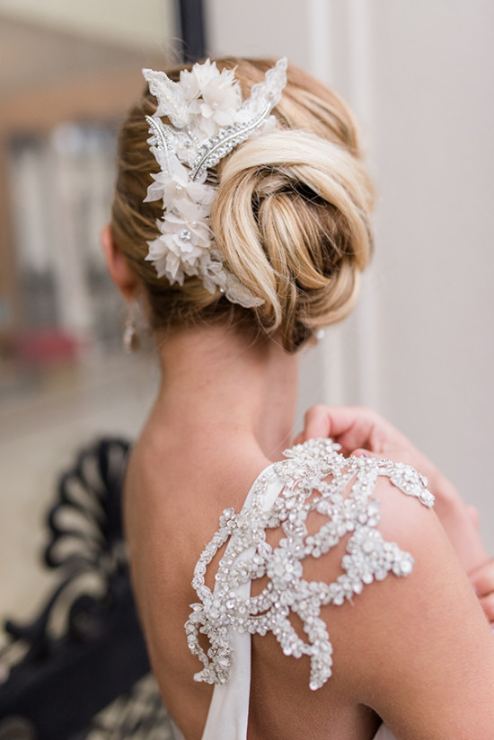 elegant hair comb and stylish updo