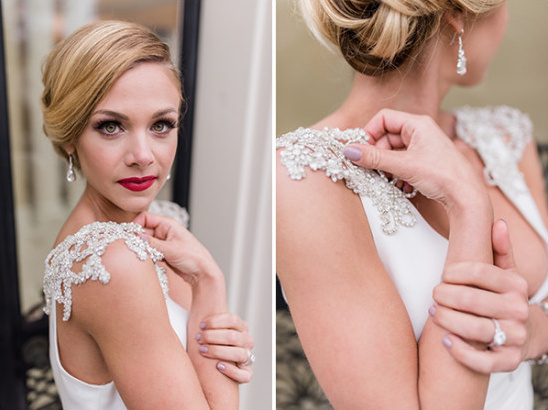 high end chic and classic bride style
