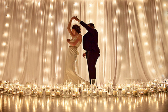 wedding dance by candelight