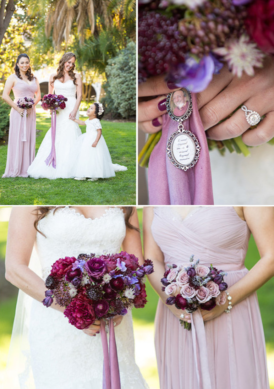 Bridesmaid in purple