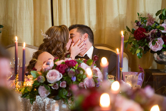 Sweetheart table kiss