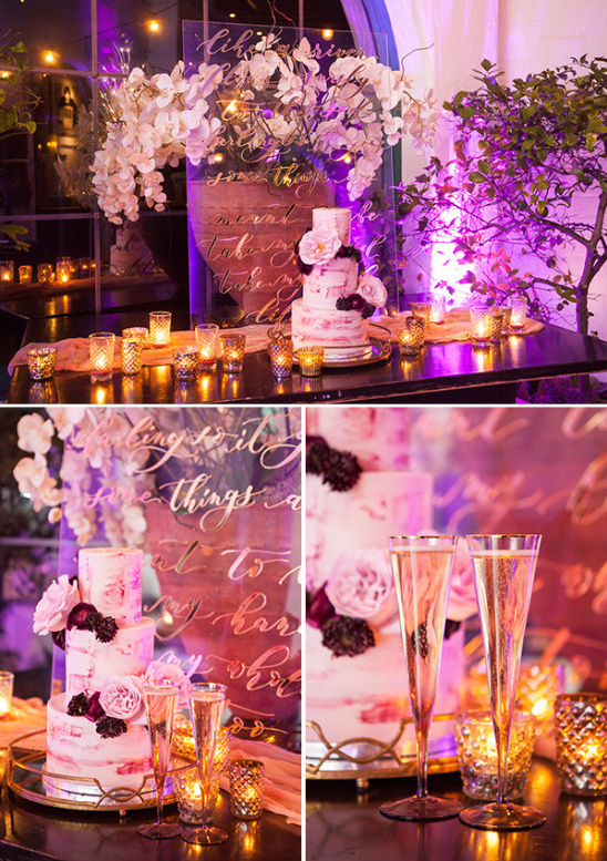Romantic cake table