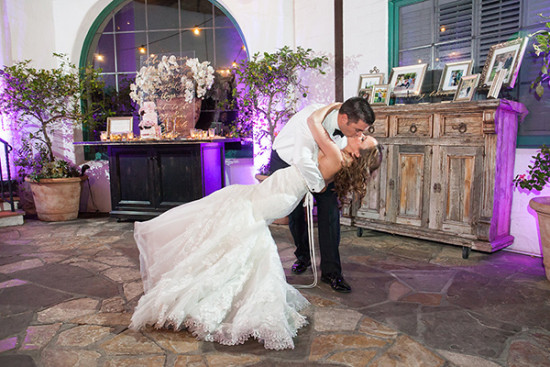 Wedding dance kiss