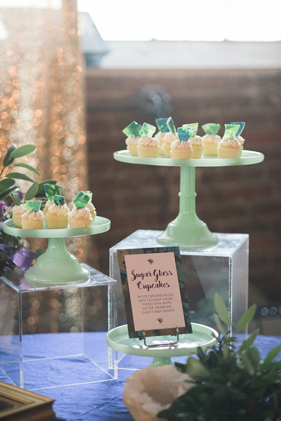 Sea glass cupcakes