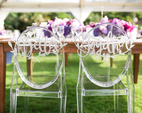 better together wedding chairs