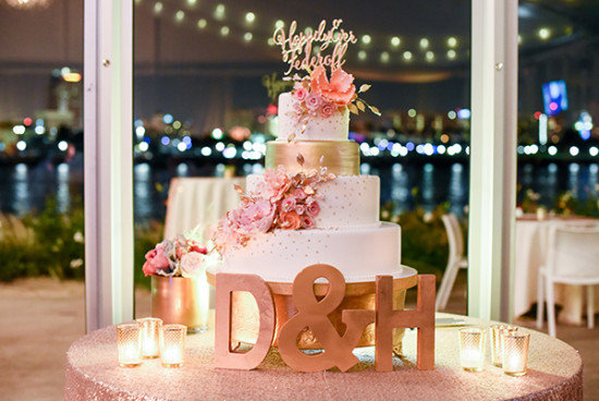 peach wedding cake design gray and gold wedding 18143