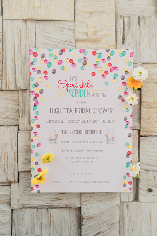 bridal shower sprinkle invite