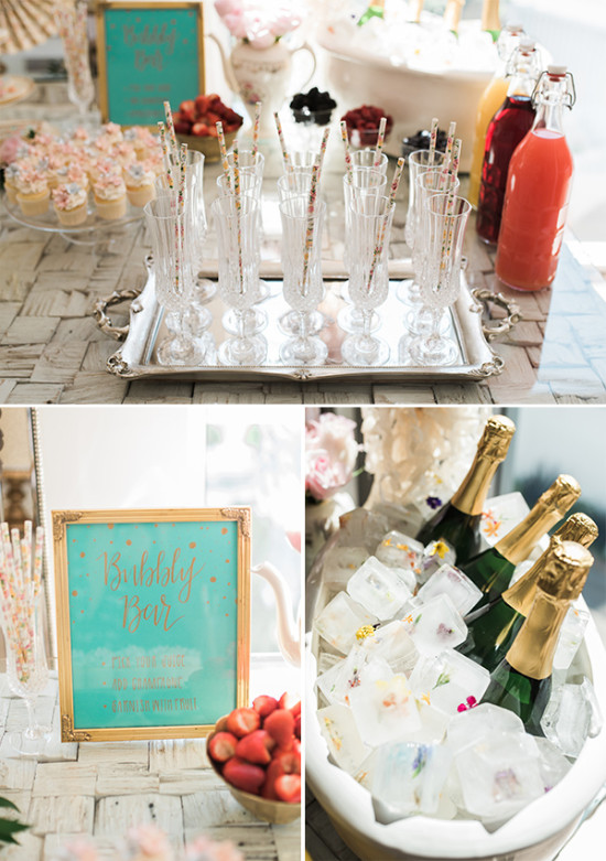 bubbly bar wedding drinks idea