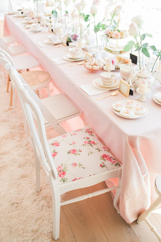 pretty pink bridal shower