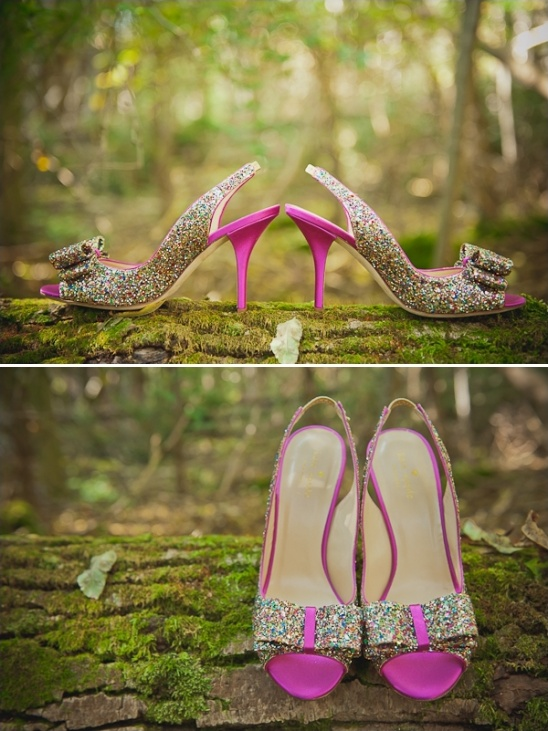fairydust glitter wedding shoes