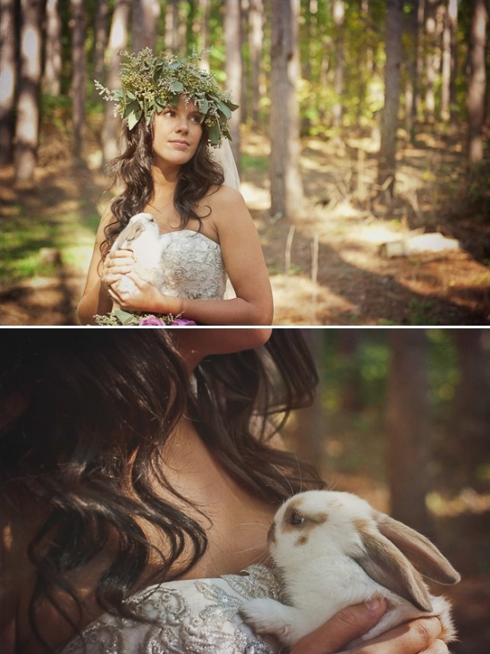 white wedding bunny