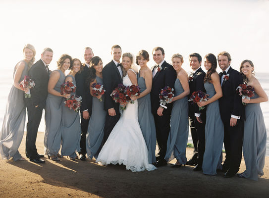 Classic Red And Gray California Wedding