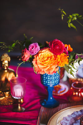 Colorful East Meets West Wedding Ideas