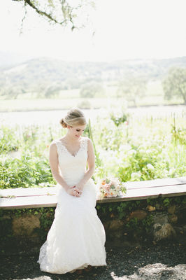 Sonoma Valley Pretty Peach Wedding